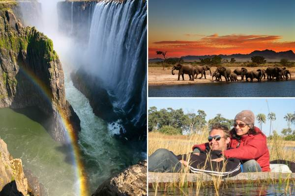 Johannesburg to Victoria Falls via Botswana Package Tour